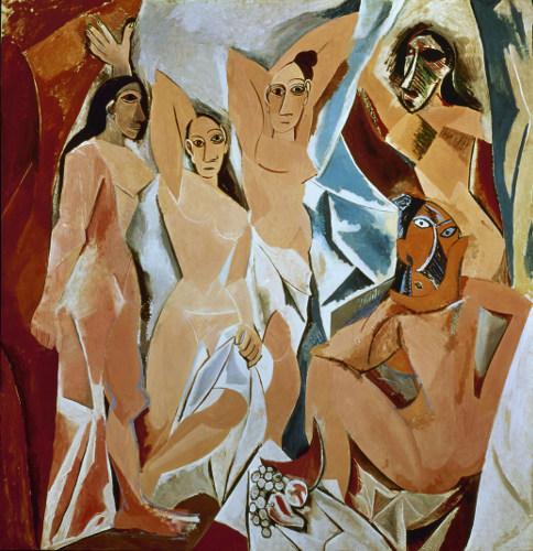 «Les Demoiselles d'Avignon» (oljemaleri) av Pablo Picasso, 1970.