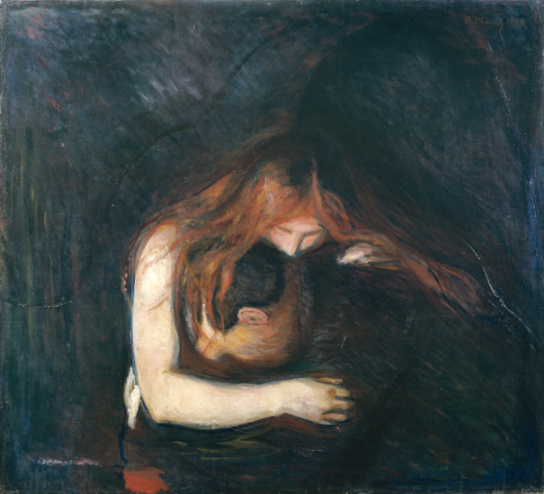 «Vampyr» (oljemaleri) av Edvard Munch, 1894